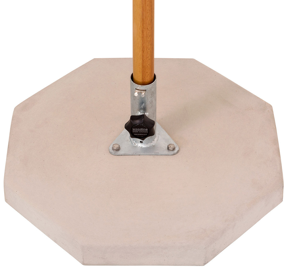 Concrete slab parasol base